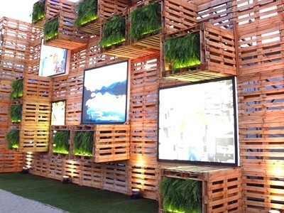 Massive Pavilion Covered with 7,000 Pallets at Rio+20 Exhibition | Vertical Farm - Food Factory | Scoop.it