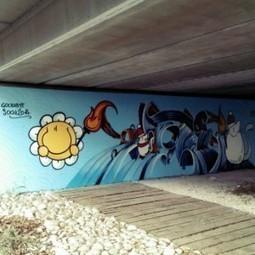 Gemona, il graffito che saluta le Olimpiadi invernali | Friulani digitali | Scoop.it