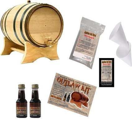 Reviews this Outlaw Kit From American Oak Barrel - Make Your Own Kentucky Bourbon Whiskey (Natural Oak With Black Hoops, 2 Liter) | About Whiskey | Scoop.it