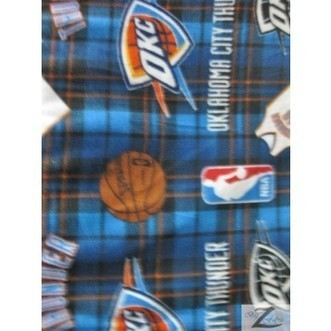 Fleece Printed Fabric Basketball NBA / Oklahoma City Thunder Plaid / Sold By The Yard | Fabric Shopping Online | Scoop.it