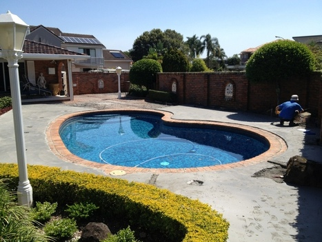 Pool surrounds concrete topping with rebate for coping. | Tuffin Up ... | Landscaping Designers Sydney | Scoop.it