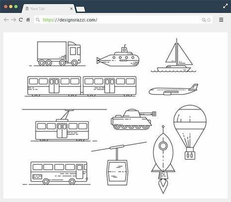 11+ Free Transit Illustration Icons Set | Designrazzi | Designrazzi | Scoop.it