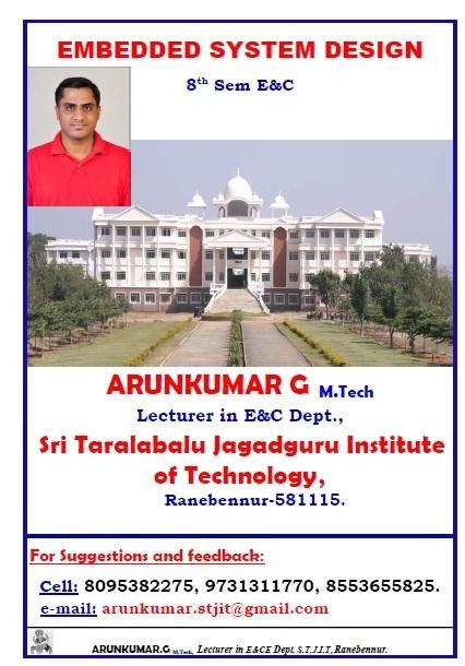 Embeded System Arunkumar Notes For VTU EC   Arun Kumar Notes   Scoop.it