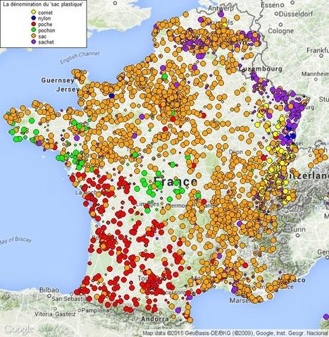 Une carte de France qui montre la façon d'appeler un sac plastique selon les régions | Cartes et Insolites | Scoop.it