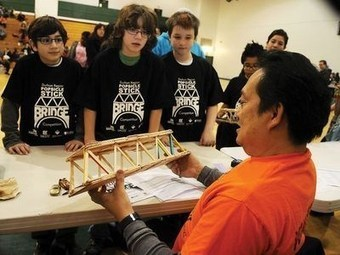 Durham students get a lesson in Popsicle stick engineering | Senior Project: Mechanical Engineering | Scoop.it