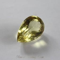 Glowing Pear Shape Natural Lemon Quartz 32.52 carats | Jual Beli | Scoop.it