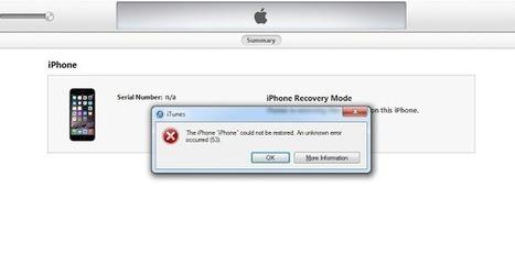 6 Ways To Fix iTunes Error 53 When Restoring your iPhone   UnlockBoot   Unlock iPhone 4 via Factory Unlock - Official iPhone 4 Unlocking via IMEI code   Scoop.it