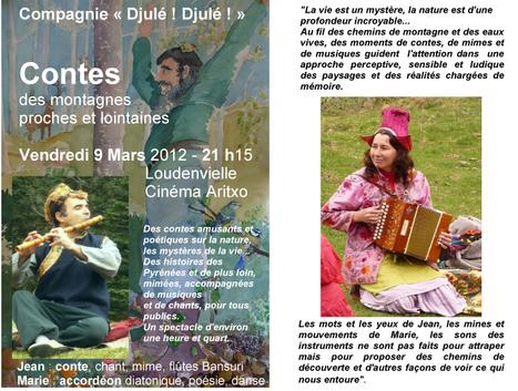 Soirée contée musicale (flûte indienne et accordéon) à 21h à l'Arixo le vendredi 9 mars   Louron Peyragudes Pyrénées   Scoop.it