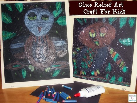 Glue Relief Art Craft For Kids - Learn & Link With Linky | Art Resources for Kids | Scoop.it