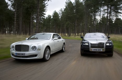 Bentley Mulsanne vs Rolls Royce Ghost - V8/V12 Luxury Saloons Compared | my library | Scoop.it