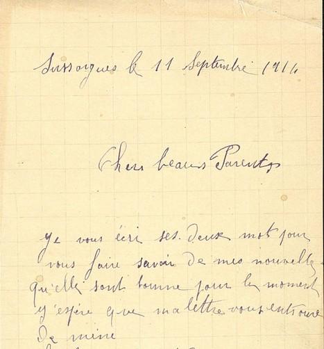 Projet « Corpus 14 » lettres de Poilus ordinaires, des ressources nouvelles pour l'histoire de l'écrit peu-lettré. | Nos Racines | Scoop.it