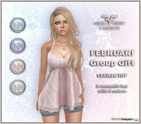 Cecille Top February 2016 Group Gift by FA CREATIONS | Teleport Hub - Second Life Freebies | Second Life Freebies | Scoop.it