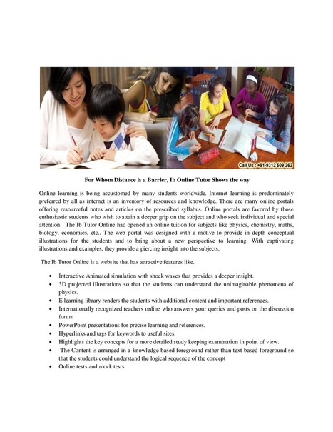 International Baccalaureate Tutor | IB Global Academy | Scoop.it
