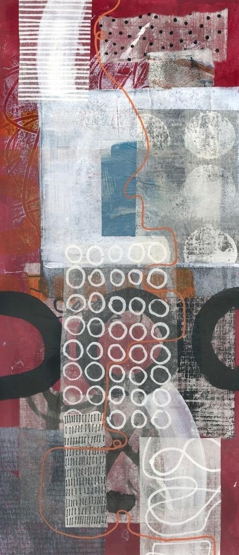 Michèle Brown Artist - The Old Cells Studio: Long thin collages | Vers les hauteurs | Scoop.it