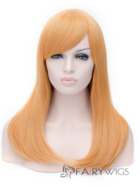 The Fresh Long Wavy Side Bang Wigs for Women 20 Inch : fairywigs.com | Synthetic Hair Wigs | Scoop.it
