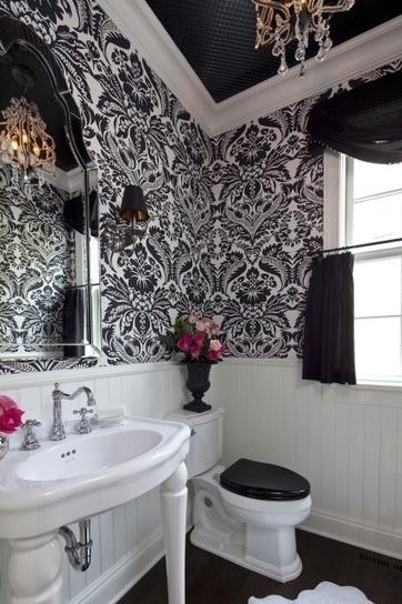 Idees Design Des Salles De Bain En Noir Et Blancblog Tissus Blog