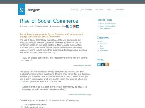 Rise of Social Commerce – Tangent MTW   Social Commerce   Scoop.it