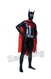Black Red Batman Shiny Super Hero Zentai Costume [c20193] - $59.00 : Shop Zentai Suits Full Bodysuits And Catsuits From Zentaing.com | cool batman costume | Scoop.it