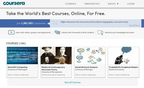 Coursera añade cursos online gratuitos de 17 universidades más | Educación a Distancia (EaD) | Scoop.it