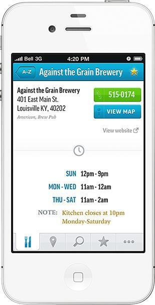 "New app makes it easier to find restaurant menus, hours - Louisville - Business First | ""Biz Mobile Marketing"" 