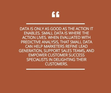 Small Data Plays a Big Role in Predictive Analysis | BIG DATA | Scoop.it