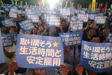 Stop causing more karoshi with zero overtime pay, people protest against labor deregulations [Japan] | Asian Labour Update | Scoop.it
