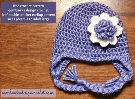 Oombawka Design *Crochet*: HDC Earflap Hat Pattern - Free Crochet Pattern | CrochetHappy | Scoop.it