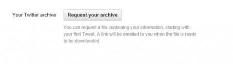 Algunos usuarios ya pueden bajar todos sus Tweets desde Twitter.com.-   Google+, Pinterest, Facebook, Twitter y mas ;)   Scoop.it