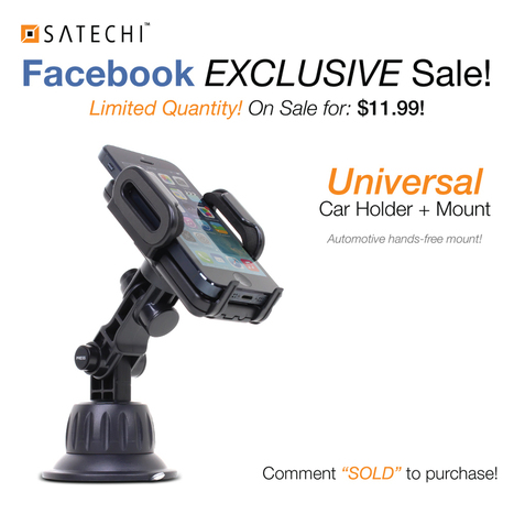 Satechi CR-3600 car mount on sale for $11.99 | Accesorios iPhone y iPad por Jaimezebus | Scoop.it