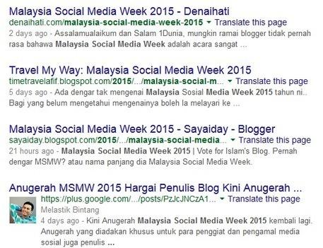 Malaysia Social Media Week (MSMW) 2015 »Dulu Lain Sekarang Lain   Blogging And SEO   Scoop.it