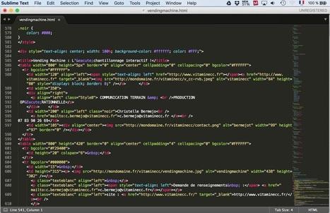 Sublime Text : un éditeur de texte générique personnalisable pour le codage | Ressources pour la Technologie au College | Scoop.it