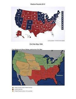 Election results map from 2012 compared to 1846... | Race | Scoop.it