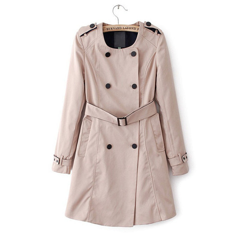 Cheap fashion double-breasted badges belt and long coat jacket in women outcoat from women clothing on sightface.com | Cheap women Clothing Online at Sightface | Scoop.it