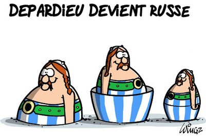 Depardieu devient russe | Baie d'humour | Scoop.it