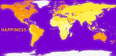 Mapping the Glum Inequality of Happiness in the World | Happiness & Wellbeing | Scoop.it