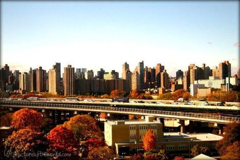 The Manhattan skyline in a fall sunset | Fractions of the world Travel blog | Scoop.it