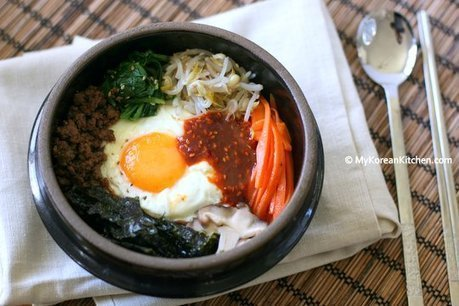 Bibimbap - Korean Mixed Rice with Meat and Assorted Vegetables - My Korean Kitchen   Outdoor cooking   Scoop.it