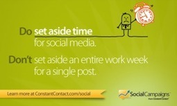 Facebook Success in 15 Minutes a Day | Constant Contact Blogs | Surviving Social Chaos | Scoop.it