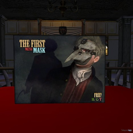 Masks The First Group Gift by ContraptioN   Teleport Hub - Second Life Freebies   Random Stuff..........   Scoop.it