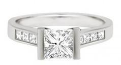Paula Engagement Ring - Princess Cut Diamond Ring Loyes Diamonds | Engagement rings Dublin Blog. | Scoop.it