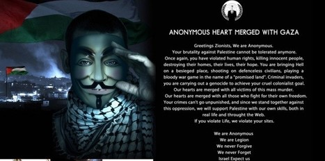 Gaza : les Anonymous attaquent Israël | Anonymous | Scoop.it