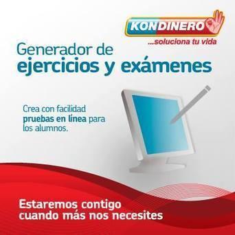 Generador de ejercicios y exámenes | Kondinero | Kondinero | Scoop.it