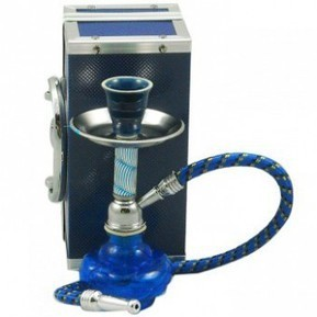 The 7'' Blue Pocket Hookah with a Case | Hookah Online | Scoop.it