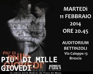 Spettacolo teatrale sulle madri di Plaza de Mayo / Martedì 11 Febbraio 2014, Brescia | Il mondo che vorrei | Scoop.it
