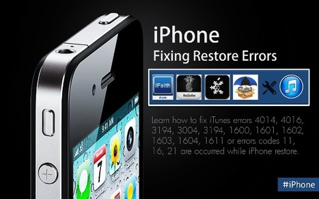 Fix iTunes Errors While Restoring or Updating or Downgrading iPhone | facebook | Scoop.it