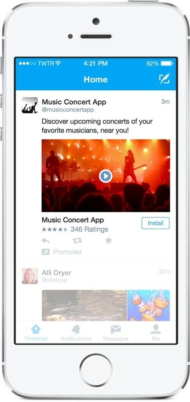 Twitter Adds Advertising Tools to Promote Mobile Apps | Social media news | Scoop.it