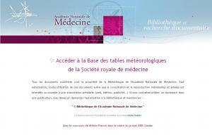 Le site du jour (71) : Tables météorologiques de la Société royale demédecine | GenealoNet | Scoop.it