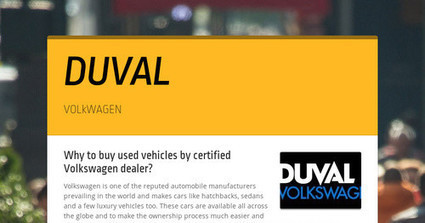 Why to buy used vehicles by certified Volkswagen dealer? | Used Cars | Scoop.it