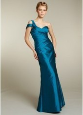 Sheath Column One Shoulder Floor Length Blue Bridesmaid Dress Bbjh0029 for $370 | 2014 landybridal wedding party dresses | Scoop.it