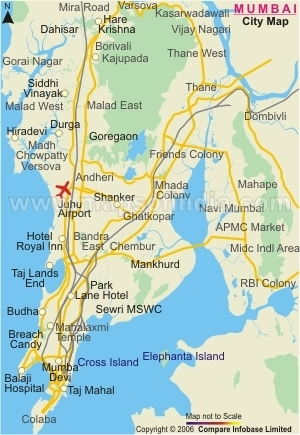 INDIA: Map of Mumbai | Behind the Beautiful Forevers: Poverty | Scoop.it